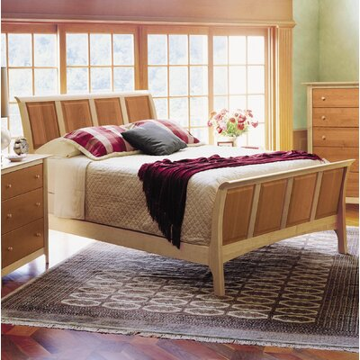 Sarah Sleigh Bed Size: Twin, Color: Maple and Cherry, Headboard Height: 51""
