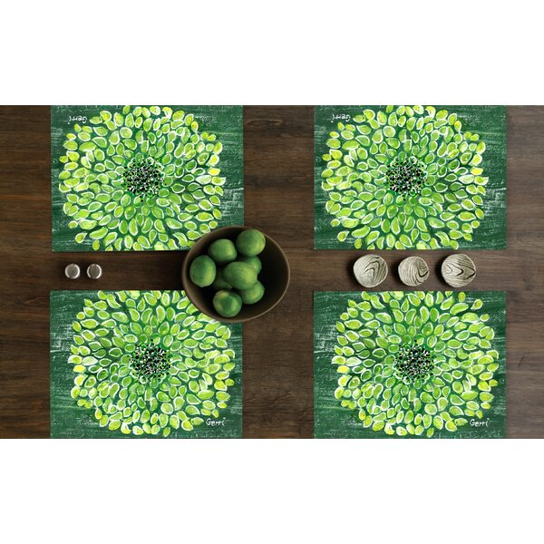 Shen Blossom Placemat (Set of 4) by Red Barrel Studio