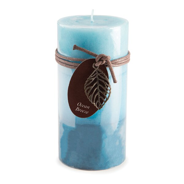 Ocean Pillar Scented Pillar Candle by Highland Dunes