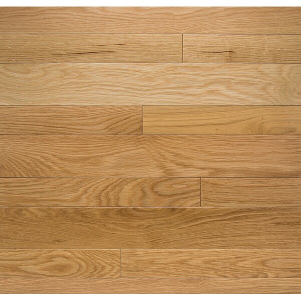 Color Plank 4 Solid White Oak Natural Hardwood Flooring by Somerset Floors
