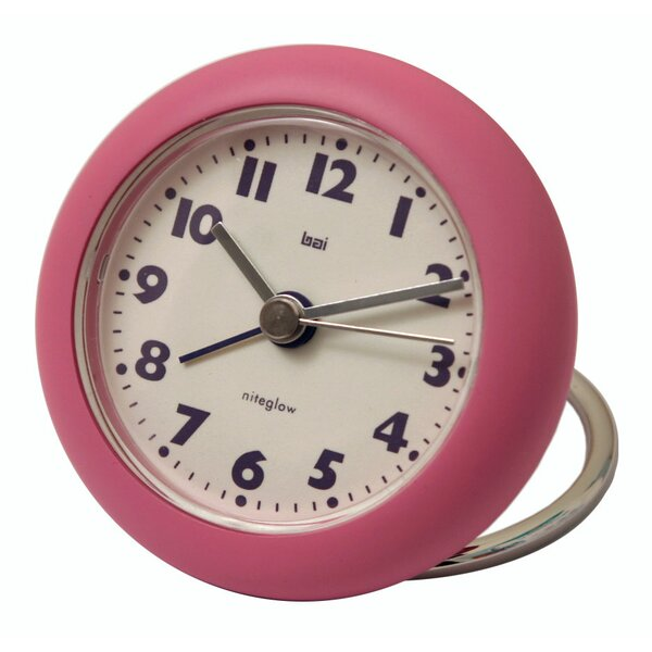 Rondo Travel Alarm Clock in Pink by Bai DesignRondo Travel Alarm Clock in Pink by Bai Design