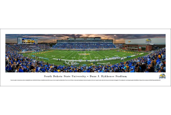 NCAA South Dakota State Football 1st Game at Dykhouse Stadium Photographic Print by Blakeway Worldwide Panoramas, Inc