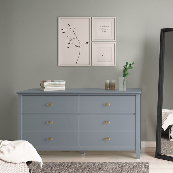 Gosport 6 Drawer Double Dresser by Three Posts