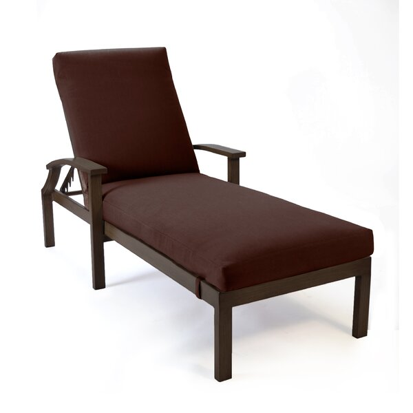 Bungalow Reclining Chaise  Lounge with Cushion by Peak Season Inc.