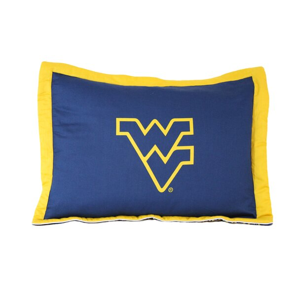 NCAA West Virginia Pillow Sham by College Covers