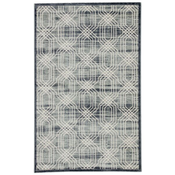 Marsielle Power-Loomed Gray Area Rug by Wrought Studio