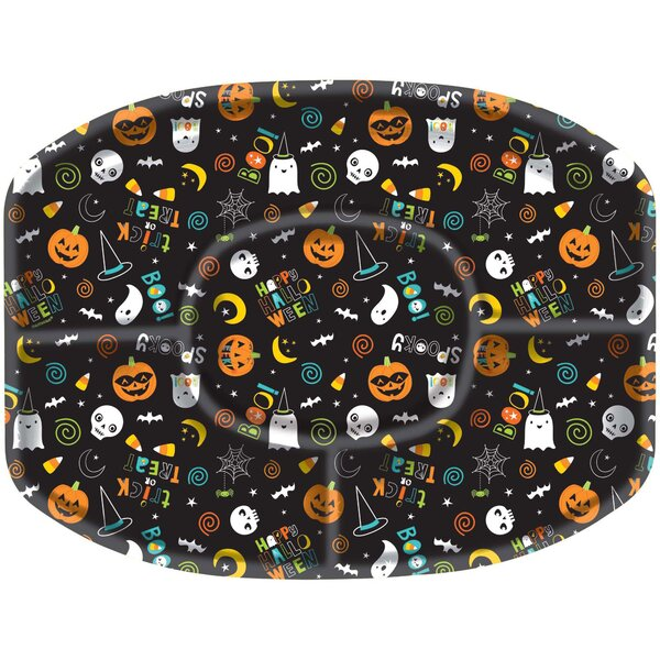 Halloween Friends Plastic Sectional Platters Condiment Server (Set of 2) by Amscan