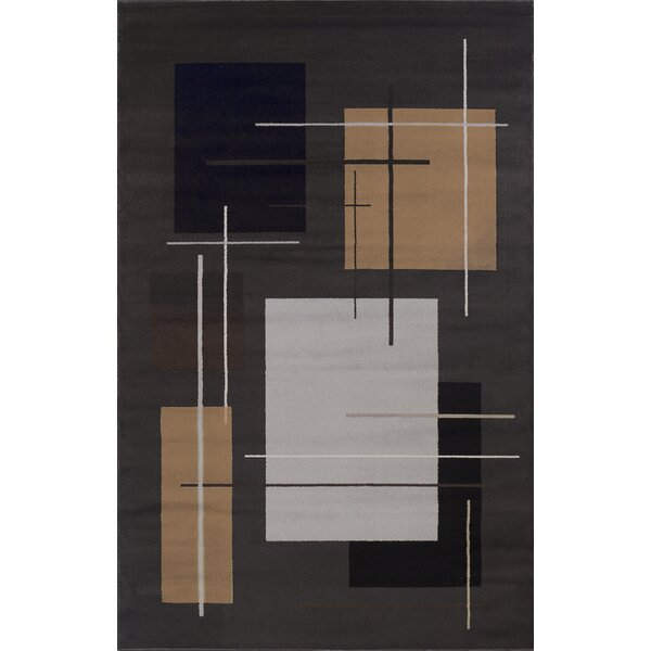 Matheus Black/Beige Area Rug by Orren Ellis