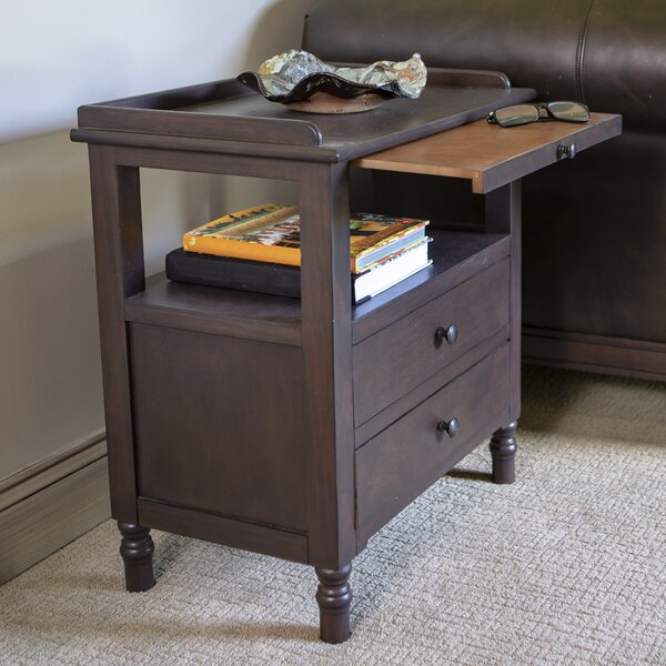 Tiberius End Table with Storage by Alcott Hill