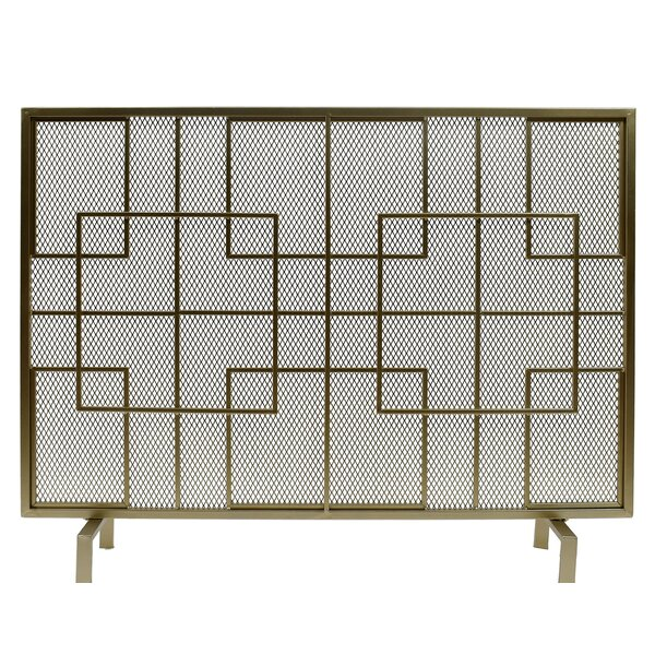Sonia 1 Panel Iron Fireplace Screen By Home Loft Concepts