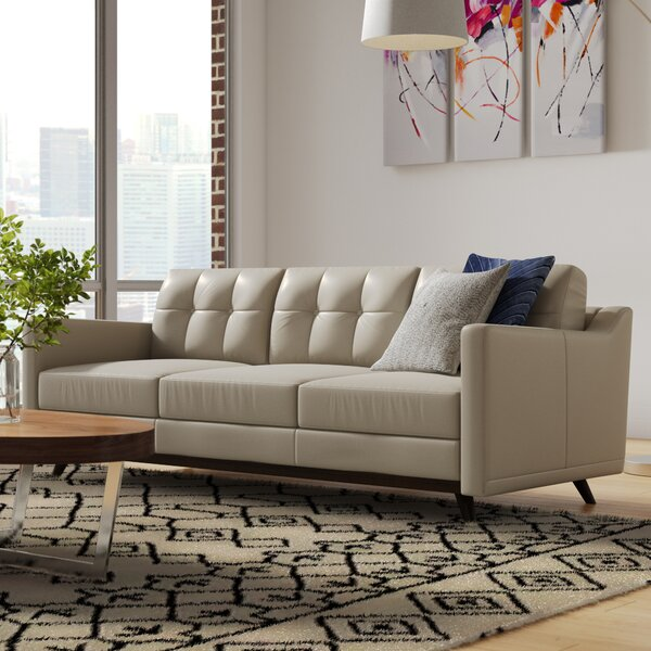 Perfect Quality Karlov Leather Sofa by Brayden Studio by Brayden Studio