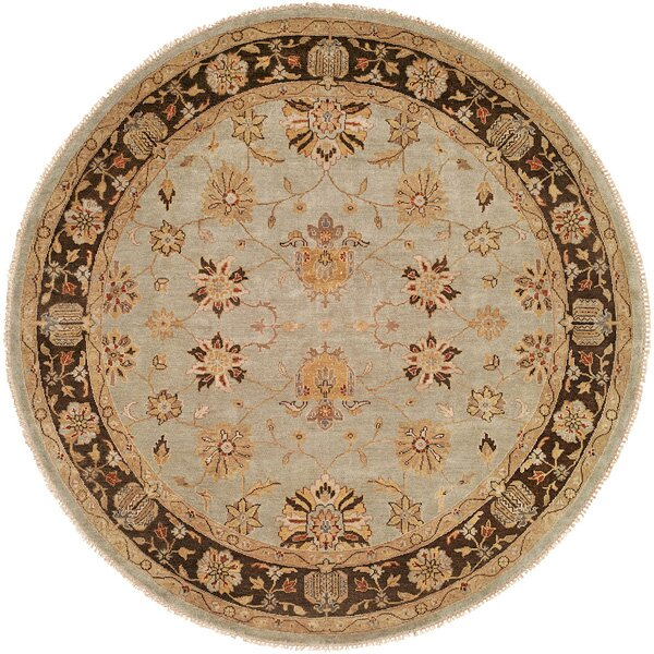 Hand Knotted Brown/Light Blue Rug