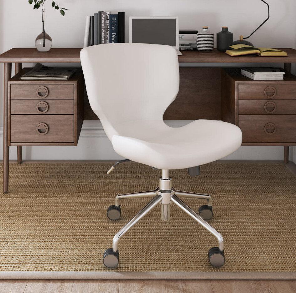 Elle Decor Madeline Hourglass Desk Chair U0026 Reviews | Wayfair