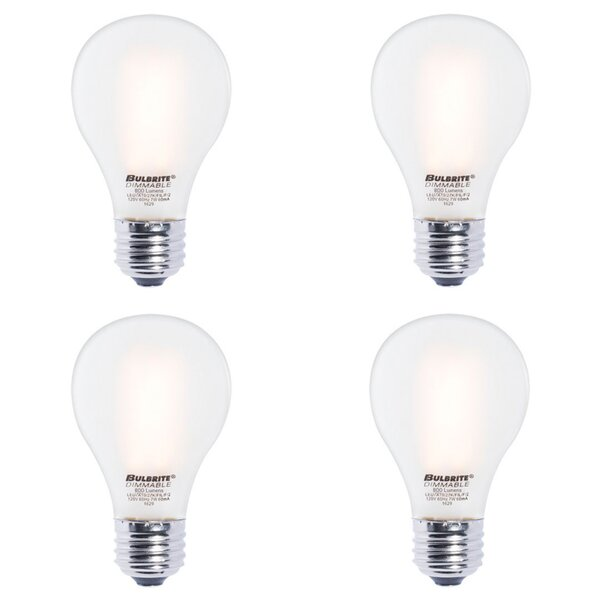 7W E26 Dimmable LED Light Bulb Frosted (Set of 4) by Bulbrite Industries