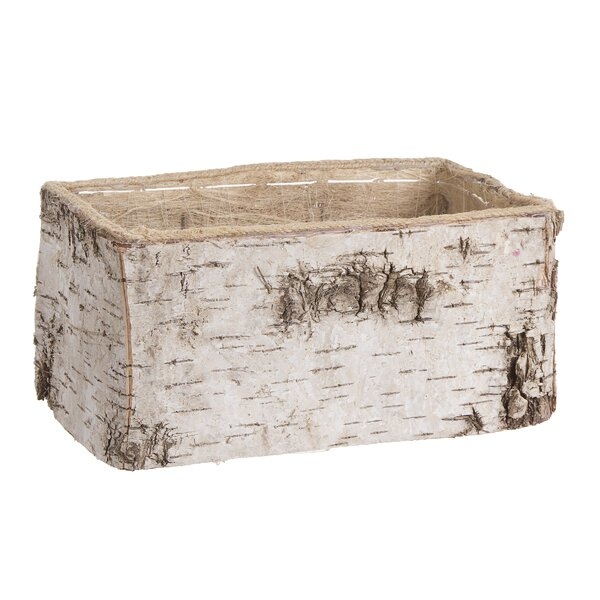 Strohl Rectangle Birch Planter Box by Millwood Pines