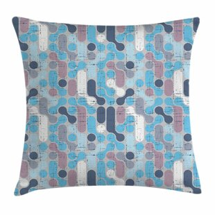 Grunge Retro Rounds Square Pillow Cover