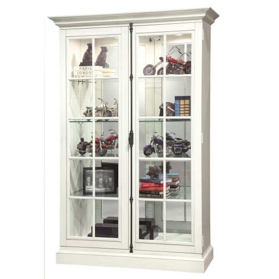 Braithwaite Lighted Curio Cabinet by Canora Grey