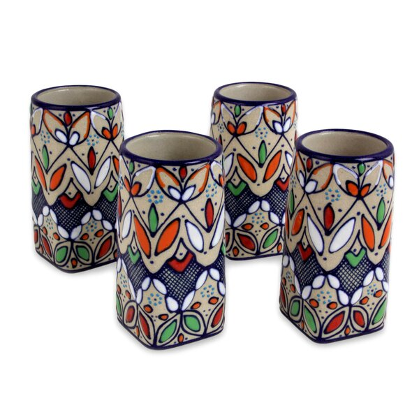 Bruss Guanajuato Festivals 3 oz. Ceramic Shot Glasses (Set of 4) by Bloomsbury Market