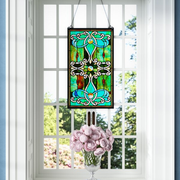 Tiffany Style Stained Glass Window Panel by Fleur De Lis Living