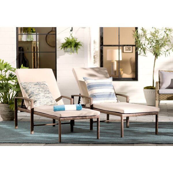 Matoury Reclining Chaise Lounge with Cushion by Laurel Foundry Modern Farmhouse