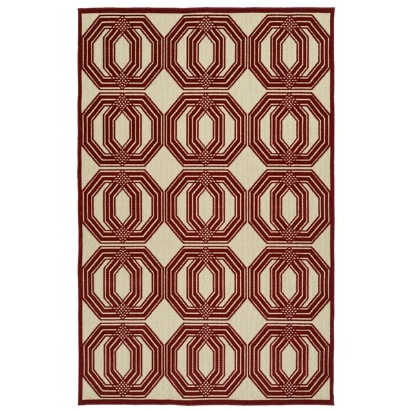Covedale Red Indoor/Outdoor Area Rug by Charlton Home