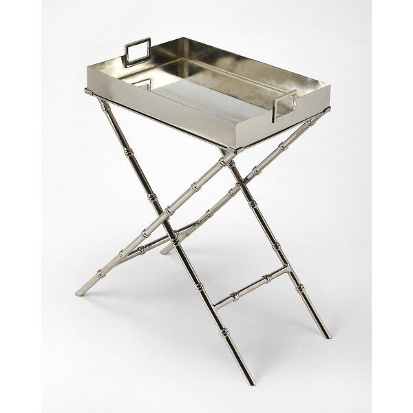 Woodbury Metal and Mirror Tray Table by World Menagerie