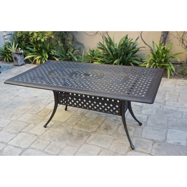 Burbank Metal  Dining Table by Canora Grey