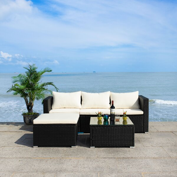 Madalina 3 Piece Rattan Sofa Seating Group with Cushions by Latitude Run
