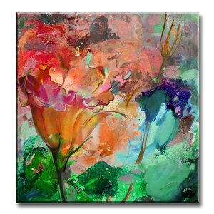 'Painted Petals LXI' Painting Print on Wrapped Canvas by Zipcode Design