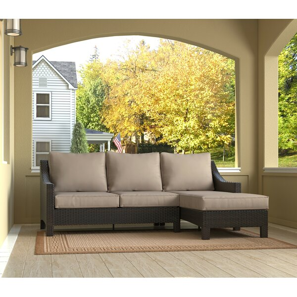 Tahoe Outdoor Wicker Patio Sectional with Cushions by Serta at Home Serta at Home