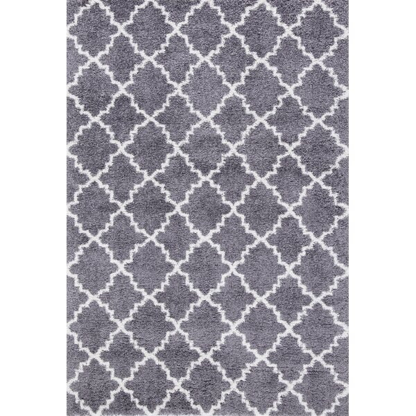 Bergelt Soft Cozy Shag Gray Area Rug by Red Barrel Studio