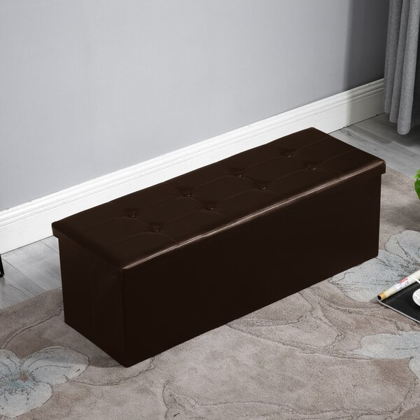Vogt Tufted Storage Ottoman by Charlton Home