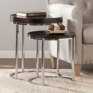 Wade Logan Tommy 2 Piece Nesting Tables Image