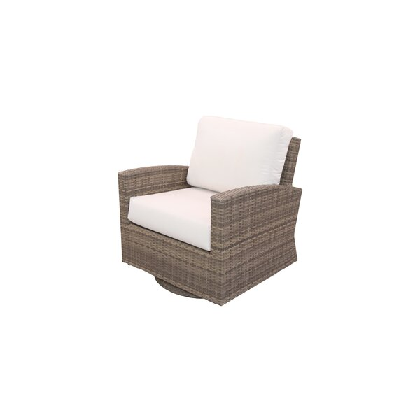 Norfolk Swivel Patio Chair with Sunbrella Cushions by Rosecliff Heights