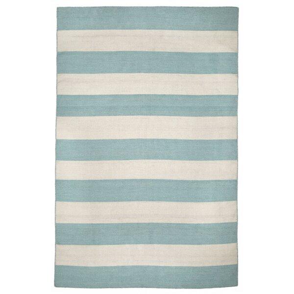 Ranier Stripe Hand-Woven Indoor/Outdoor Area Rug by Beachcrest Home