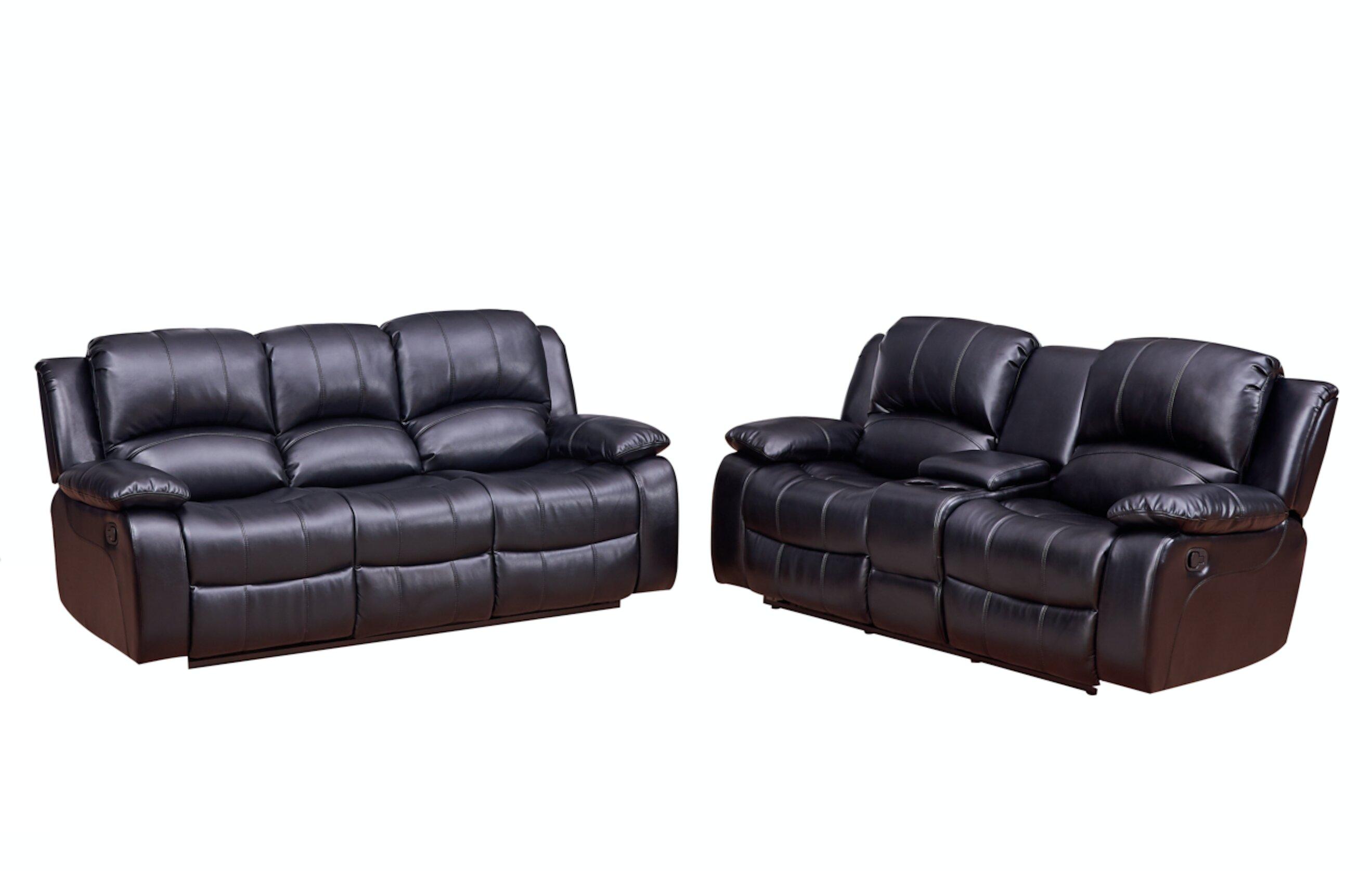 Red Barrel Studio Wooding 2 Piece Reclining Living Room Set | Wayfair