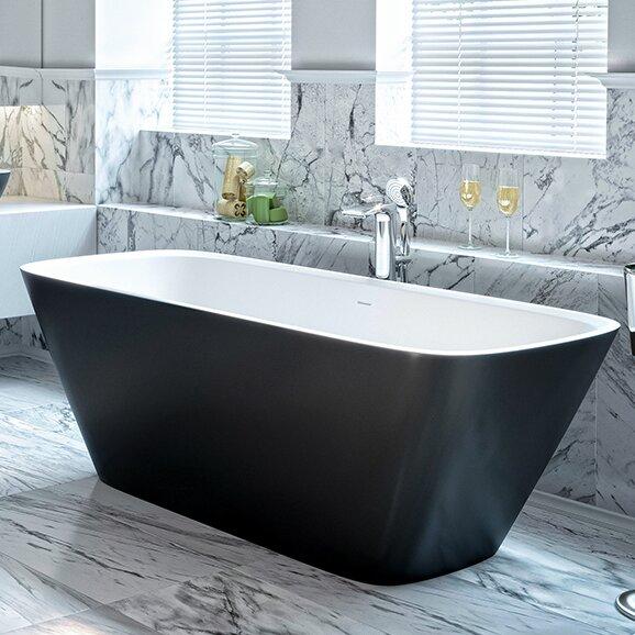 Arabella 68.5 x 30.25 Freestanding Soaking Bathtub by Aquatica