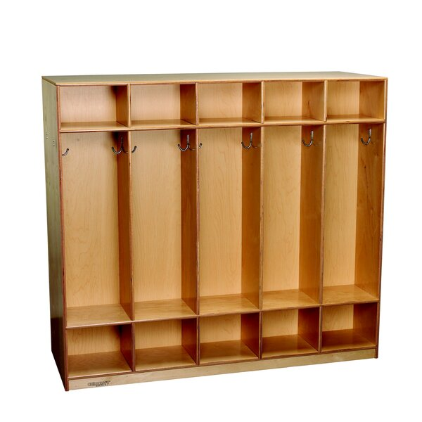 Childcraft 3 Tier 5 Wide Coat Locker by Childcraft