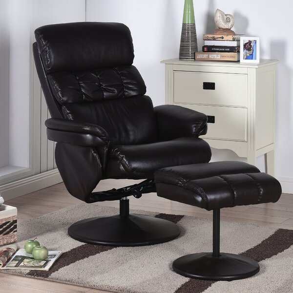 Carissa Recliner with Ottoman by Ebern Designs