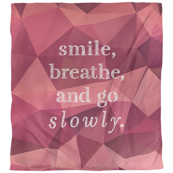 Go Slowly Quote Single Duvet Cover