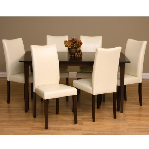 Evendale 7 Piece Solid Wood Dining Set by Red Barrel Studio