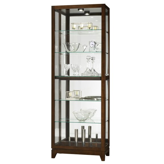 Hubbard Lighted Curio Cabinet by Breakwater Bay