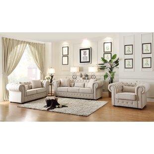 Waltman 2 Piece Standard Configurable Living Room Set by Rosdorf Park