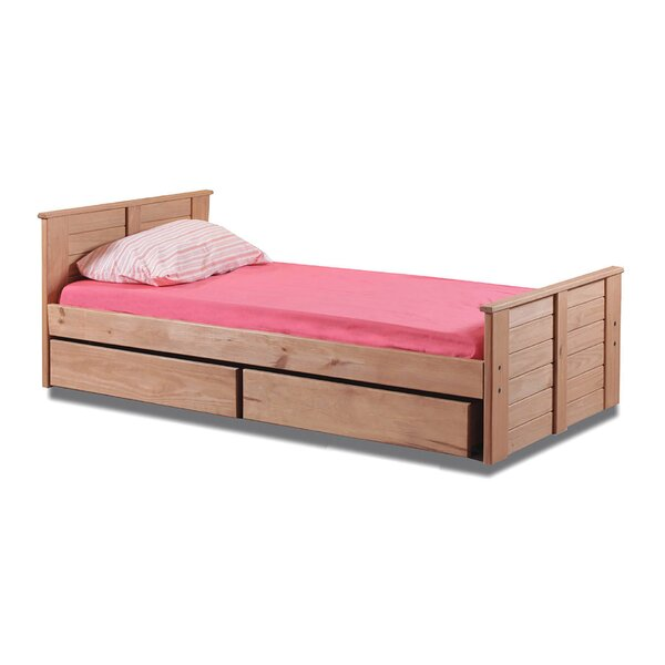 Evatt Twin Mate's Bed with Roll-out Underbed Storage by Harriet Bee