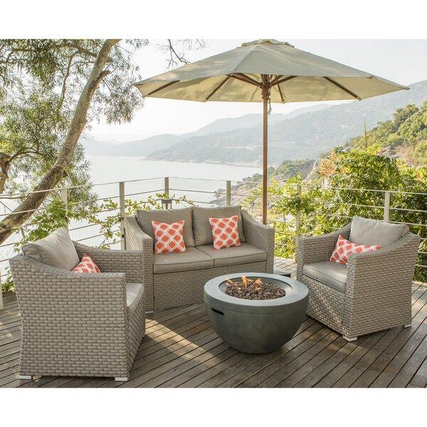 Marguerite 7 Piece Rattan Complete Patio Set with Cushions by Longshore Tides Longshore Tides