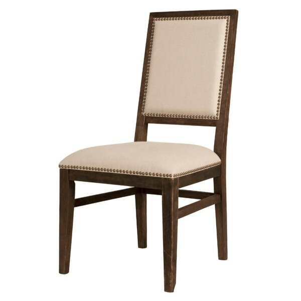 Cipriano Acacia Wood Upholstered Dining Chair (Set of 2) by Charlton Home