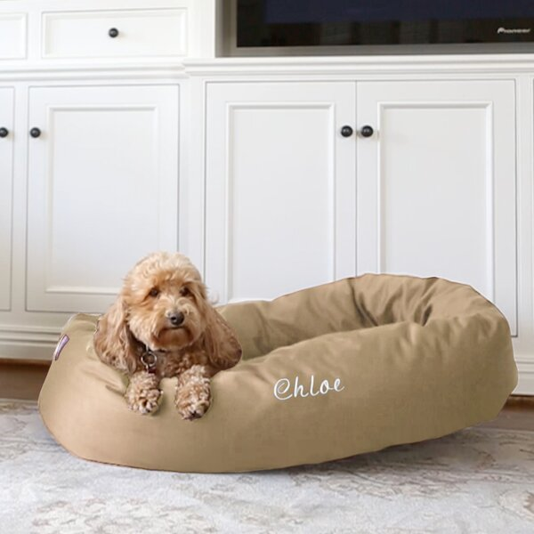 Majestic Pet Personalized Bagel Donut Bolster Dog Bed by Majestic Pet Products