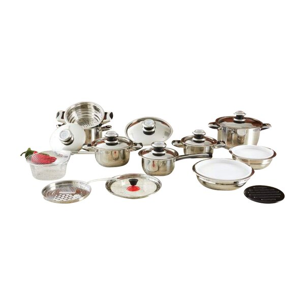 28 Piece Stainless Steel Cookware Set by Chef's Secret
