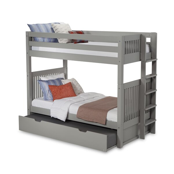 Oakwood Twin over Twin Bunk Bed with Trundle by Harriet Bee