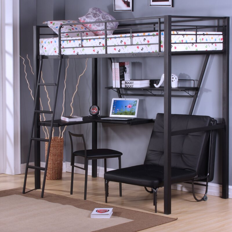 Good Bed With Desk Part - 3: Senon Loft Bed With Desk